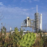CRS-11 Space-X Falcon 9 Stands Ready for Launch